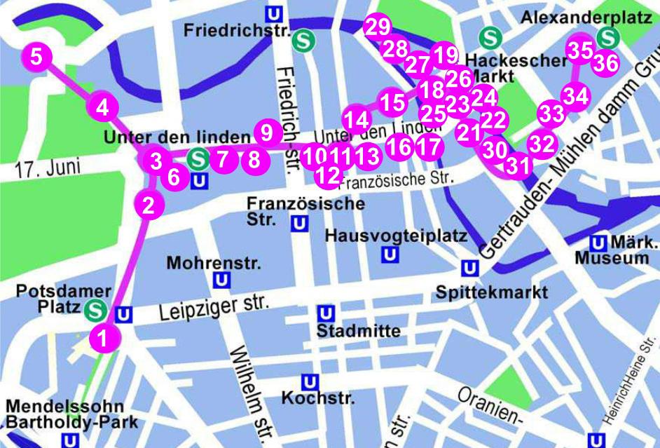 Rutas por Berln  Gua de Berln  LaBerlinesa Turismo y Ocio en
